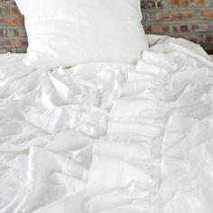 Linen Ruffles Sheet | Ruffles Bedding - linenshed
