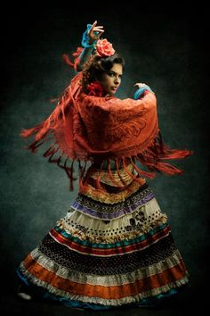 I love Flamenco - especially the dancer's expression. - coleção prof eagasparetto
