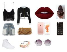 """""""Untitled #7"""" by disneygirlfaith on Polyvore featuring beauty, Zara, Vans, Moschino, LE3NO, Yves Saint Laurent, Lime Crime, Monki and J.Crew"""