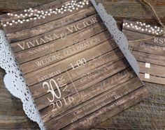 Rustic Wedding Invitation SetBarn Wedding InvitationCountry