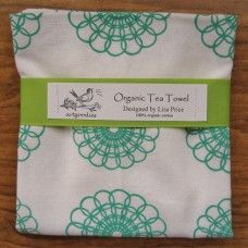 ArtGoodies Organic Doily Pattern Tea Towel  - MADE IN THE USA - Available at www.cooltobuyamerican.com