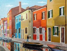 Cityscape in Italy oil by Jack Nie  nies_adrt@hotmail.com