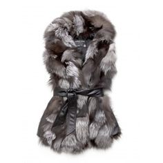Gorgeous fox fur vest! AND its made with recycled fur!