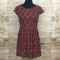"Red floral dress NWOT  bust 38"" waist 30"" 32"" long Timing  Dresses Mini"