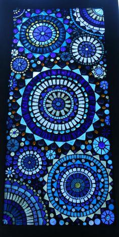 Beautiful Blue Circles Mosaic Window Panel by lowlightcreations, $350.00