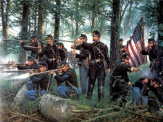 Union army at the Battle of Gettysberg