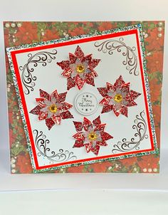 Excited to share this item from my shop: Luxury Handmade Christmas Card, Card, Large Poinsettia Card, Personalised Card Luxury Christmas Cards, Handmade Christmas, Poinsettia Cards, Exploding Box Card, Christmas Sentiments, Pop Up Box Cards, Dog Cards, Wedding Anniversary Cards, Glitter Cards