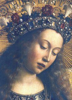 Jan van Eyck, Ghent altarpiece, Virgin Mary