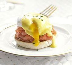 Huevos Benedictine con salmón - Huevos y Carnes - Recetas - Charhadas.com
