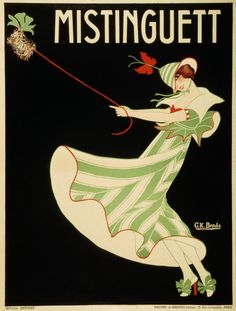 Casino de Paris Mistinguett Fashion Showgirl Theatre Vintage Entertainment Poster Ad. Available as Giclee Paper Print, Rolled Canvas, Mounted Canvas, and Wood Sign.  **Please note: additional images are shown as an example of the mounted canvas...