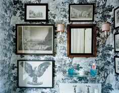 Zoffany wallpaper in the home of London designer Ben Pentreath. Photo by John Spinks.