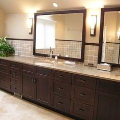 If The Bathroom Cabinets Were Dark