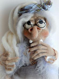 Купить Баба-Яга. Интерьерная кукла-оберег. - оберег, вязаная игрушка, крючком, подарок
