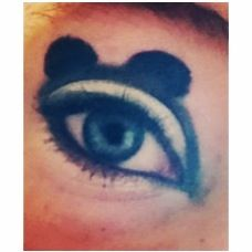 My Mickey Mouse inspired eye makeup I did. From my Instagram @addsomeglitter3 Eye Make Up, Lip Makeup, Edc, Mickey Mouse, Lips, Inspired, Hair, Painting, Instagram