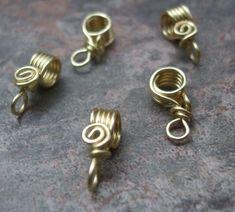 Wire wrapped jewelry bails by azibrn