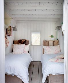Pretty white wood bedroom