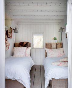 white wood bedroom