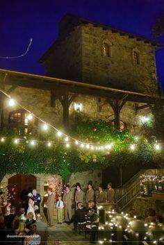 Sweet light - gorgeous skies, courtyard wedding in Napa Valley. Destination Wedding Photographer: Nathan Welton, Dreamtime Images www.dreamtimeimages.com California and Colorado Wedding Planner, Jenifer Hammond, I Do, www.IDoWeddingServices.com