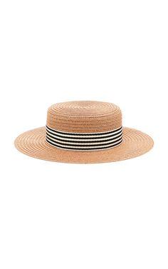 f1fe1a9d0fbd Brigitte Straw Hat by Eugenia Kim   Moda Operandi Low Chignon Bun, Boater,  Eugenia