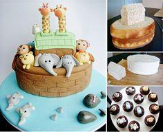Noahs Ark Baby Shower Cake