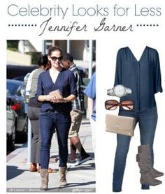 Celebrity Look for Less — Jennifer Garner #fashion