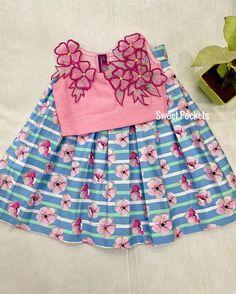 Baby Frocks Designs, Kids Frocks Design, Dresses Kids Girl, Baby Dresses, Kids Outfits, Baby Frock Pattern, Frock Patterns, Baby Girl Fashion, Kids Fashion