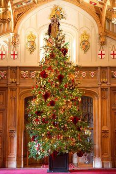 Windsor Castle Christmas Tree Wreath, Windsor Castle, Joy To The World, Wreaths, Holiday Decor, Design, Home Decor, Art, England