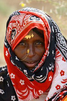 Afar tribe woman in danakil - Eritrea by Eric Lafforgue, via Flickr