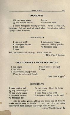 1923 recipes