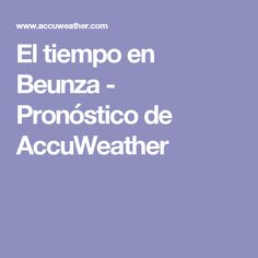 El tiempo en Beunza - Pronóstico de AccuWeather