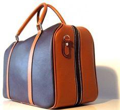 Weekender Leather Bag Nut & Honey - Francis Baron--i wish