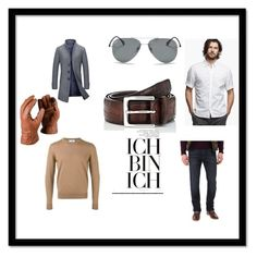 """""""Untitled #21"""" by melly-di ❤ liked on Polyvore featuring James Perse, Joe's Jeans, AMI, Ray-Ban, Barneys New York, men's fashion and menswear"""