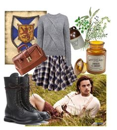 """""""Come along Sassenach"""" by kirac on Polyvore featuring Wallace, Pink Tartan, Paddywax and Rick Owens"""