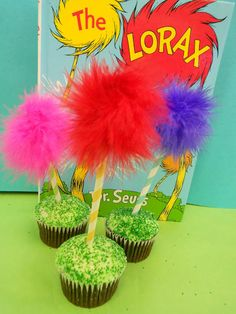 *Rook No. 17: recipes, crafts & whimsies for spreading joy*: Lorax Truffula Tree Cupcakes -- Easy DIY