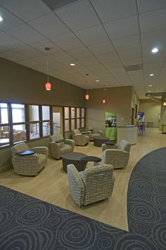 Tablet chairs for your internet users or note-takers.  Geneva, IL #lobby #church