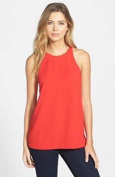 Sanctuary 'Flirt' Cross Back Chiffon Tank available at Nordstrom (XS should fit for this)