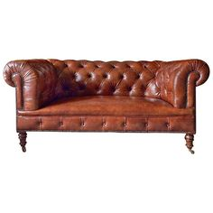 Howard & Sons Antique Chesterfield Sofa Settee, Victorian, 19th Century 1