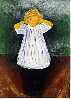 Lot: Edvard Munch - The Child, Lot Number: 0759, Starting Bid: $3,800, Auctioneer: Antique Auctions Plus, Auction: Estate Consignment Blow Out Sale, Date: February 22nd, 2017 CET