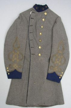 Confederate Colonel Robert W. Harper's Uniform Frock Coat An outstanding example of one of the many patterns of Southern uniforms.