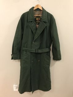 Gore Tex Apparel Technologies Green Long Adventure Trench Coat Jacket Men Medium  | eBay