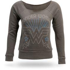 Wonder Woman Long-Sleeve Off-the-Shoulder Fleece