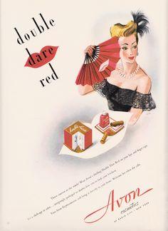 1946 Avon advertisement  Art by Bobri