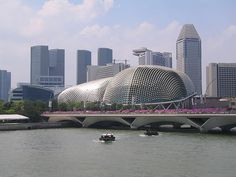 Esplanade - theatres on the bay, along Singapore river Singapore City, Places Ive Been, Theatres, River, Stock Photos, Architecture, Building, Arquitetura, Buildings