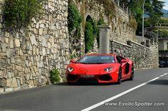 Lamborghini Aventador spotted in Como, Italy
