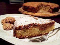 Amaretti e ricotta Italian Cake, Italian Desserts, Sweets Recipes, Cake Recipes, Torta Angel, Ricotta Dessert, Ricotta Cake, Sweet Cooking, Bread Cake