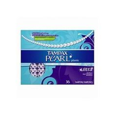 Tampax pearl plastic, ultra absorbency, unscented tampons, 36-count