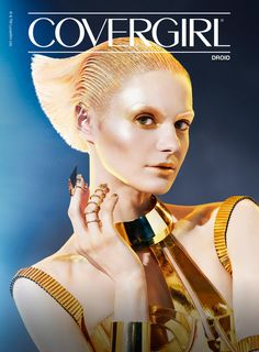 The first look, which is inspired by the droid, uses a gold and bronze color palette.