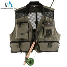 Maximumcatch V-LITE Super Light Fishing Vest With Multifunction Pockets Outdoor QUICK DRY Fly Fishing Jacket