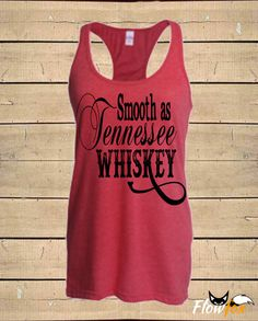 Country Shirts, Smooth as Tennessee Whiskey, Southern Tanks, Chris Stapleton, Womens (Fitted Style) Tri-Blend Racerback Tank Top