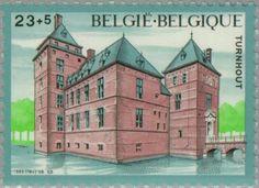 Sello: Water Castle Turnhout (Bélgica) (Castles) Mi:BE 2247,Sn:BE B1044,Yt:BE 2195,Bel:BE 2195